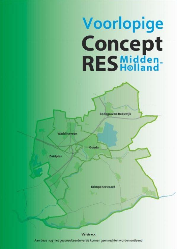 Voorblad Voorlopige Concept RES Midden-Holland