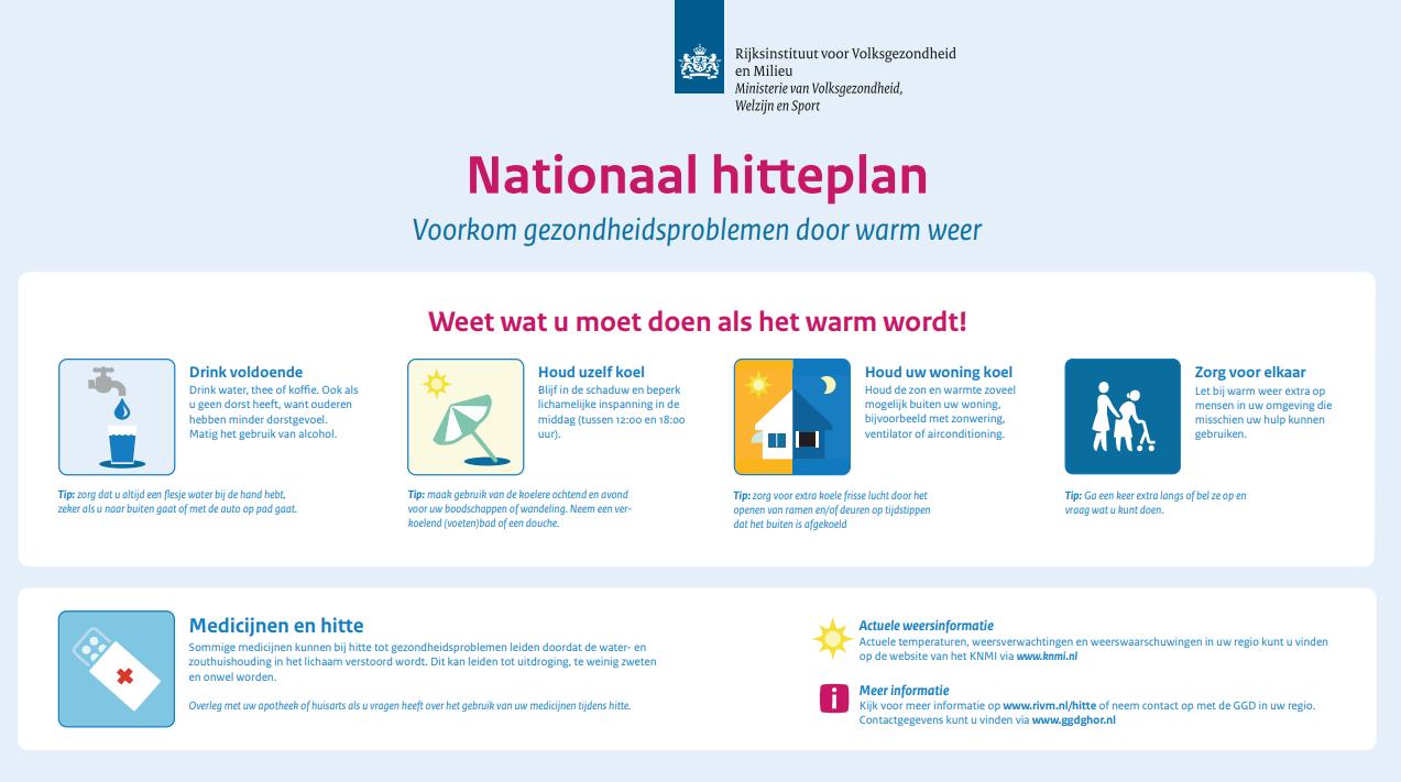 Nationaal Hitteplan van kracht