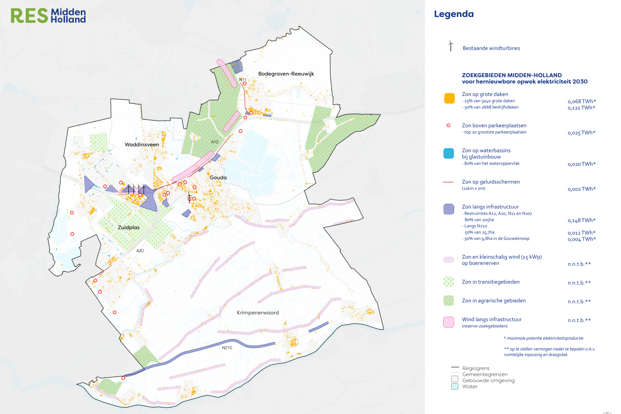 Regio Midden-Holland stelt RES 1.0 vast